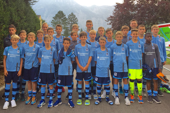 U14-Junioren in Obertraun. Foto: TSV 1860